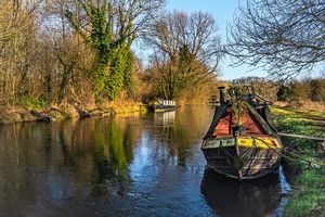 Narrowboats At Woolhampton