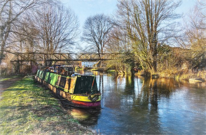Winter On The Kennet - Ian W Lewis