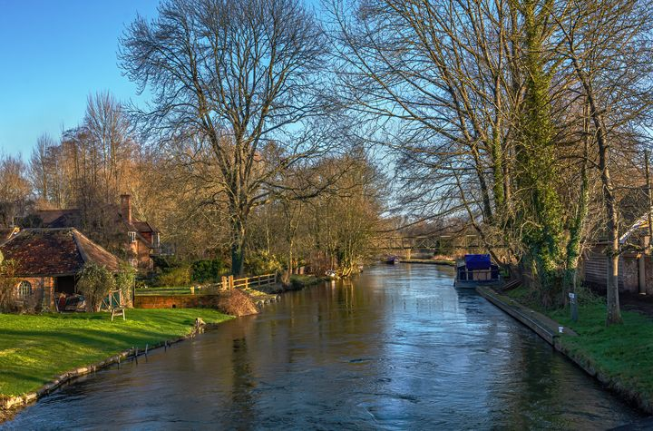 The Kennet and Avon at Woolhampton - Ian W Lewis