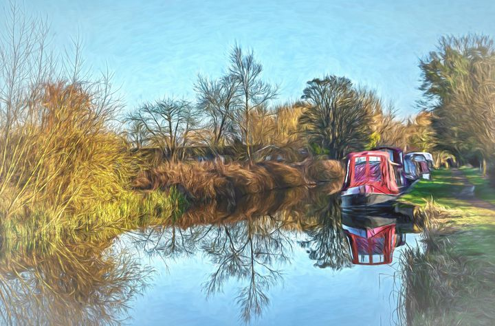 Winter Moorings - Ian W Lewis
