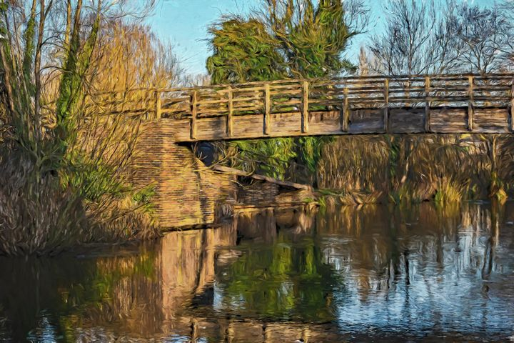 Footbridge Over The Kennet - Ian W Lewis