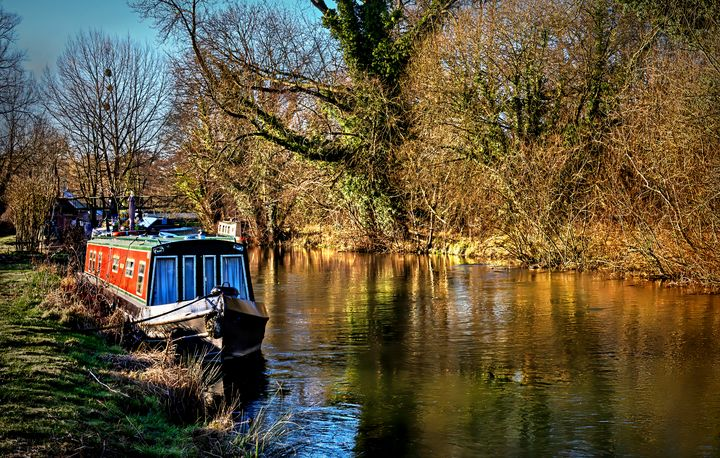 The Kennet In January Sunshine - Ian W Lewis