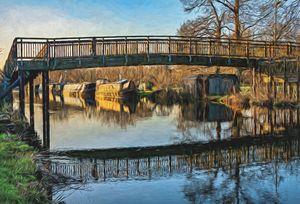 New Monkey Bridge At  Newbury