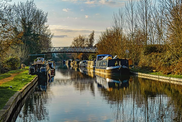 Canal Boats At Aldermaston - Ian W Lewis