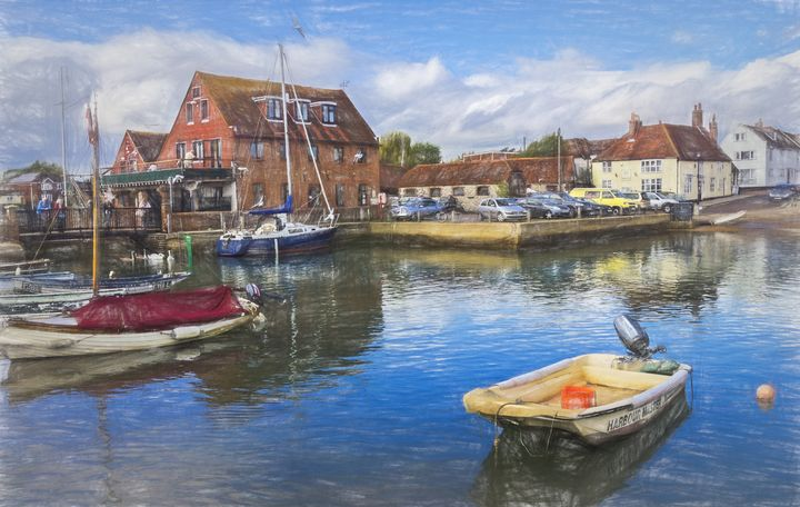 Boats At Emsworth Harbour - Ian W Lewis