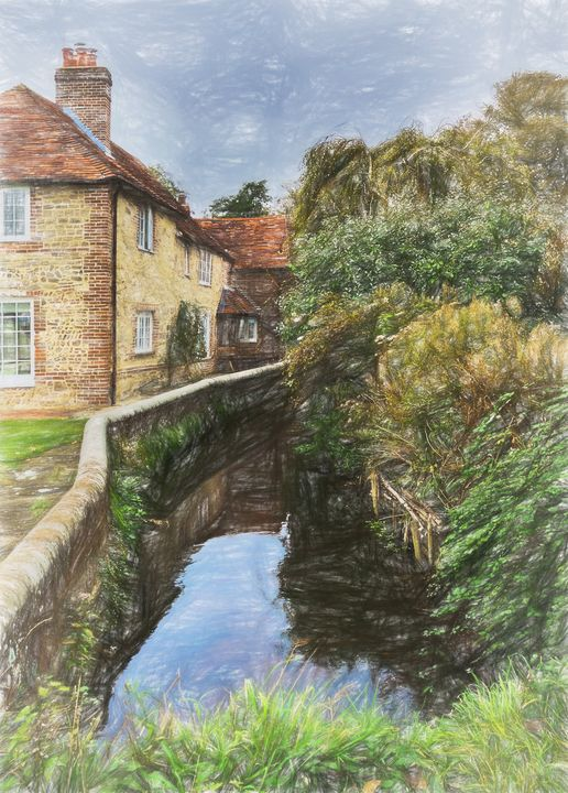 A Corner Of Bosham - Ian W Lewis