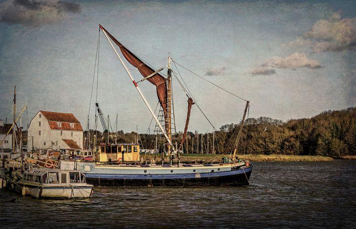 Sailing Barge At Woodbridge - Ian W Lewis