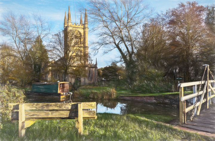 Church By The Canal Hungerford - Ian W Lewis