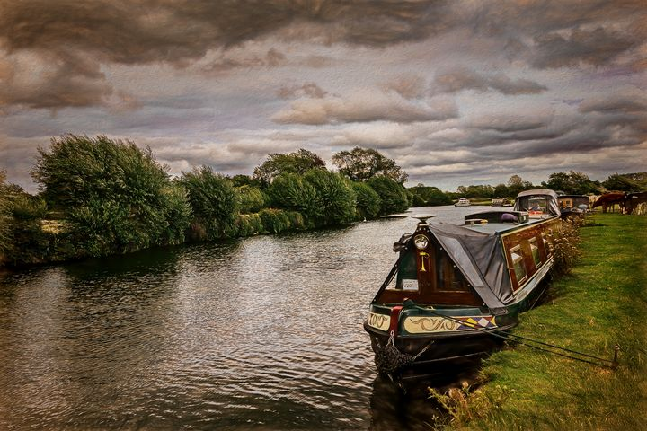 Narrowboat Moored At Lechlade - Ian W Lewis