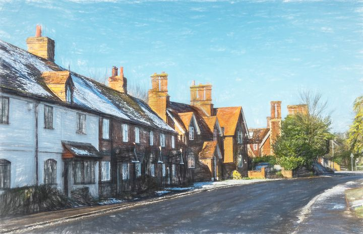Cottages in Tidmarsh - Ian W Lewis