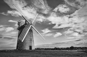 Great Haseley Windmill Monochrome