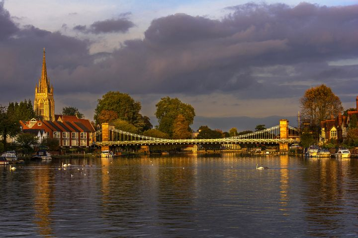 The Thames At Marlow - Ian W Lewis