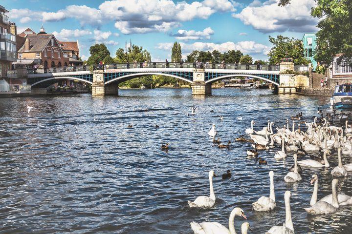 Windsor Town Bridge - Ian W Lewis