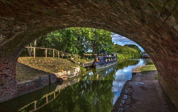 Under The Bridge At Pewsey Wharf - Ian W Lewis