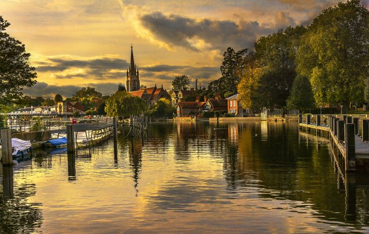 Marlow In The Late Afternoon - Ian W Lewis
