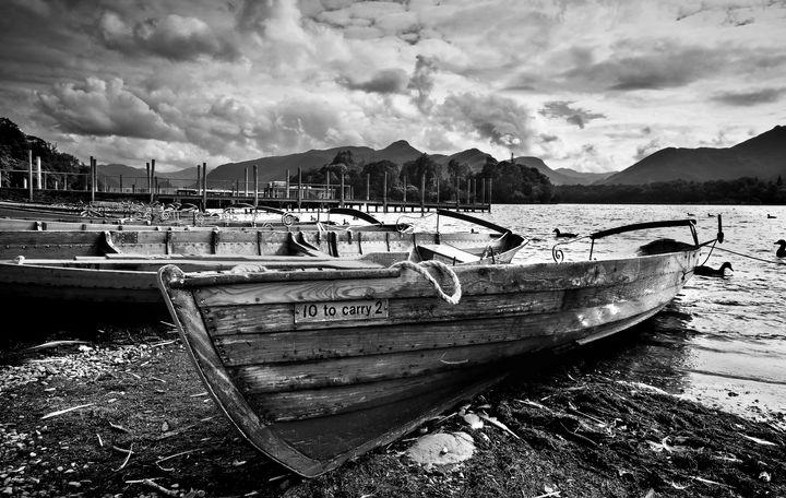 Boats at Derwentwater - Ian W Lewis