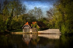 Boat Houses on the River Thames