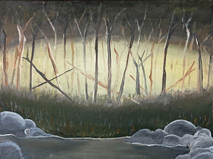 Lake trees - Shiyas Arts