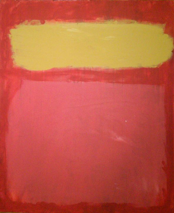 Yellow, and Pink on Red - Personal Private Toilet