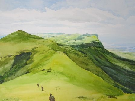 Green hill - om art
