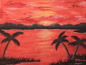 Blood-orange Sunset