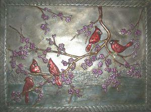 Cardinal Spring Color Mural