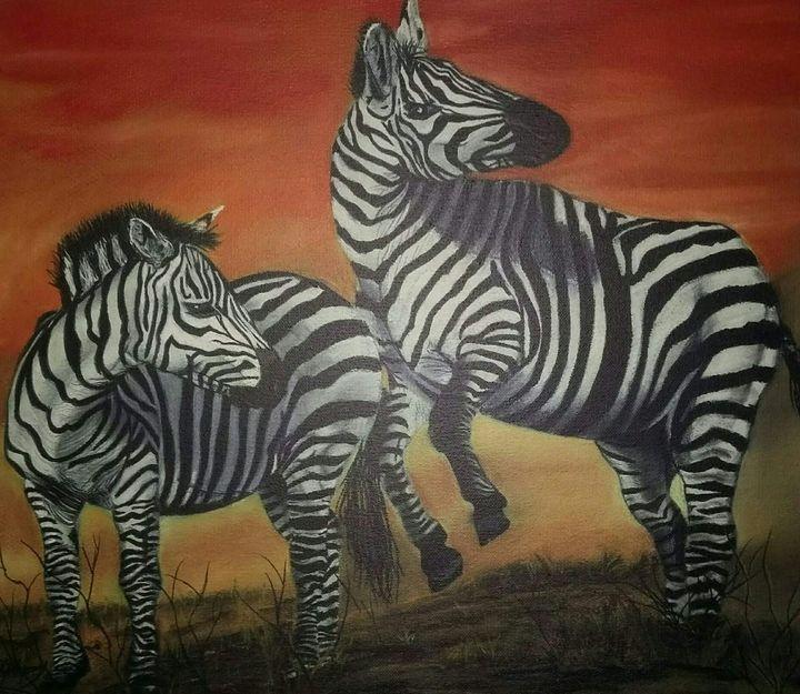 Frolicking - Wildlife in art