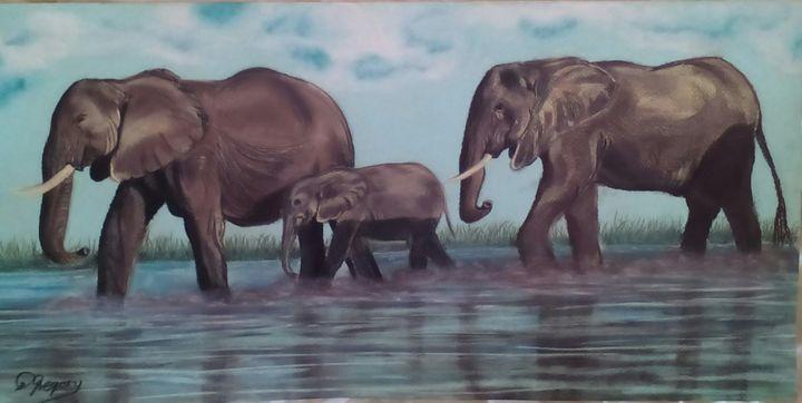 The herd - Wildlife in art