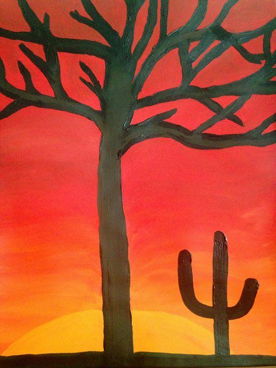 Desert at Sunaet 11x14 - hawkARTS