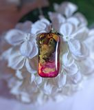 Hand Painted Glass Pendant