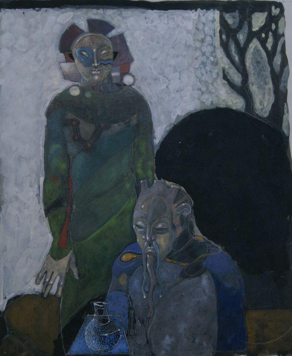 Anansi, Hermit and Glass Jar - Leon Waller