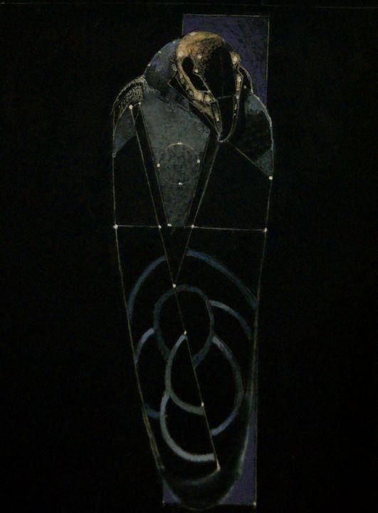 Mummified Hawk Blue/Violet - Leon Waller