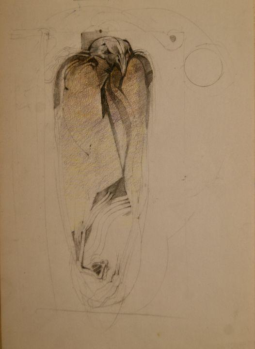 Drawing Mummified Falcon - Leon Waller