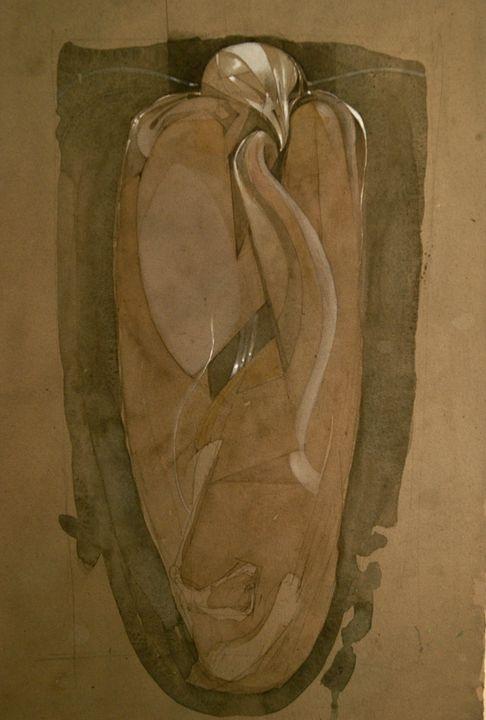 Drawing/Painting of Mummified Falcon - Leon Waller