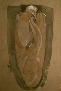 Drawing/Painting of Mummified Falcon - Leon Waller