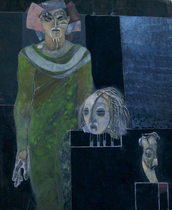 Anansi, Mask, and Roman Figure - Leon Waller