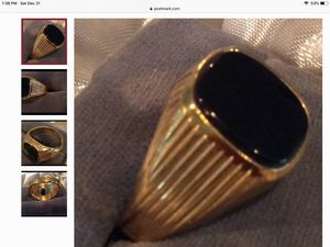 Mens Black Onyx Ring - Kates' Treasures