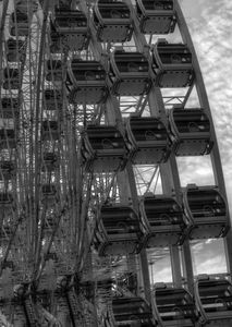 Ferris Wheel Monochrome Absrtact