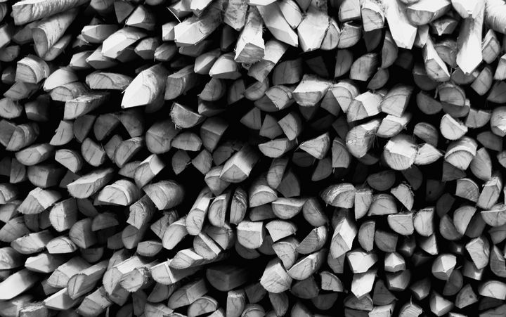 Wood Stack Monochrome - JT54Photography