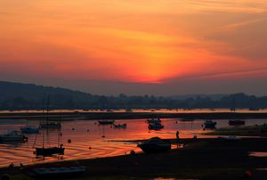 Afterglow at the Estuary