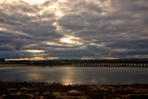 Pier At Amble On A Cloudy Evening
