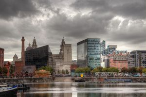Liverpool Waterfront And Dock