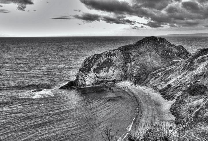 Lonely Cove Monochrome - JT54Photography