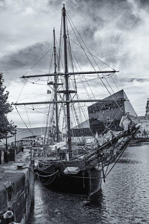 Brigantine Tall Ship Monochrome - JT54Photography