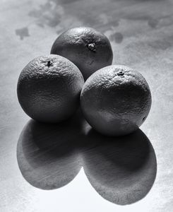 Three Oranges Monochrome