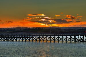 Amble Pier At Sunset