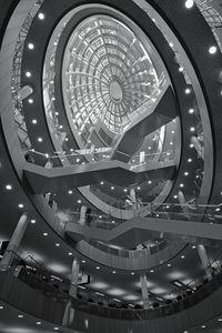 The atrium staircase Monochrome