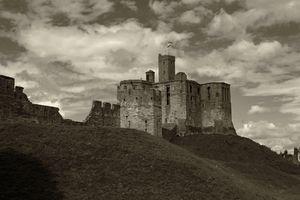 Warkworth Castle Sepia