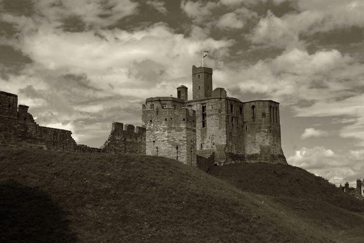 Warkworth Castle Sepia - JT54Photography