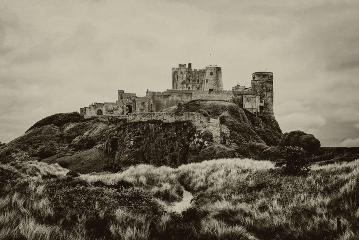 Bamburgh Castle From the Dunes - JT54Photography